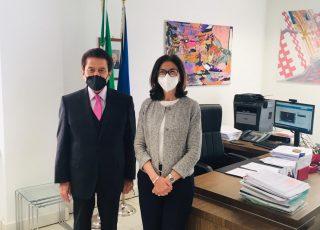 Il Prefetto Cinzia Torraco riceve il Presidente della Fondazione Carispaq